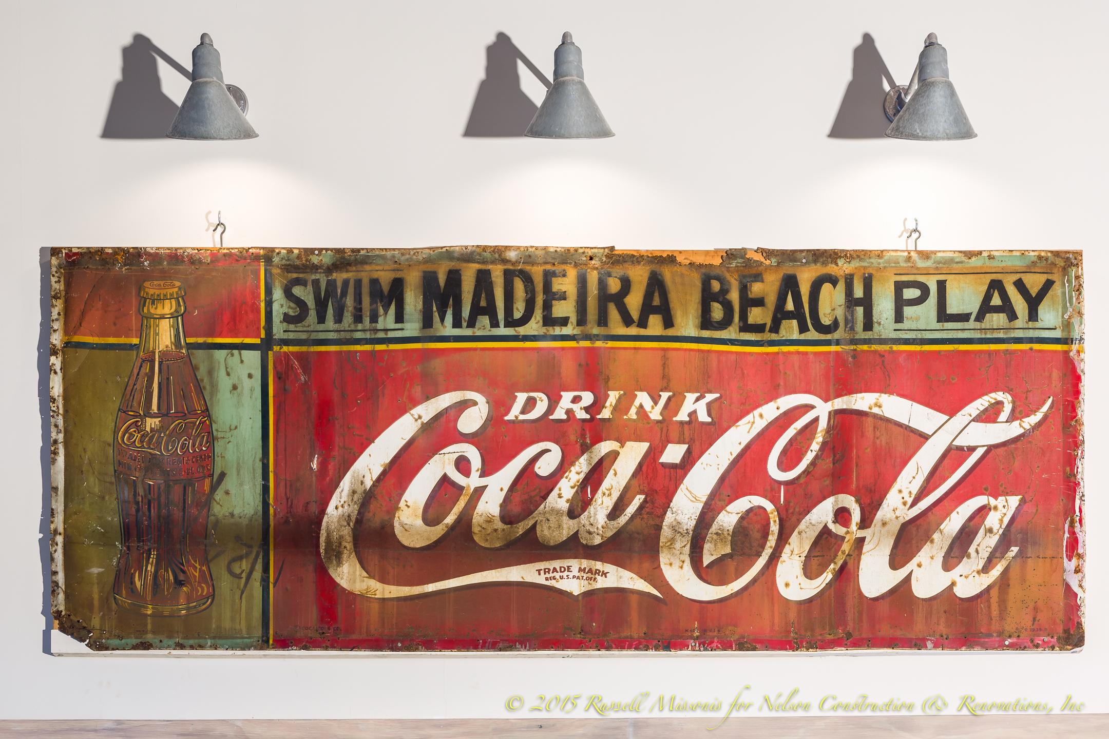 Coke Sign Close Up