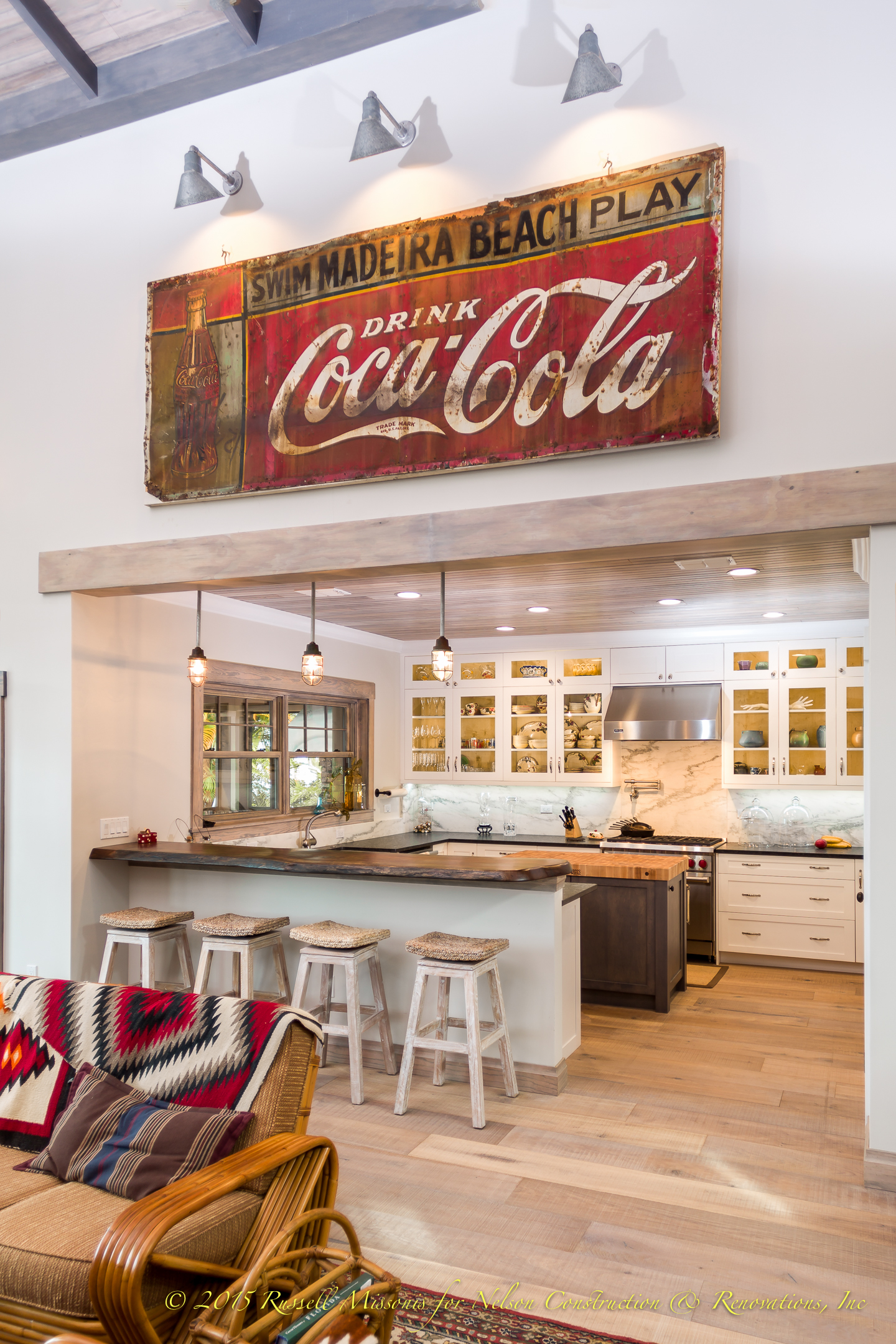Kitchen with Coke Sign