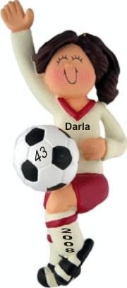 soccer player female brown hair