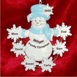 Personalized Christmas Ornaments Family Of 6