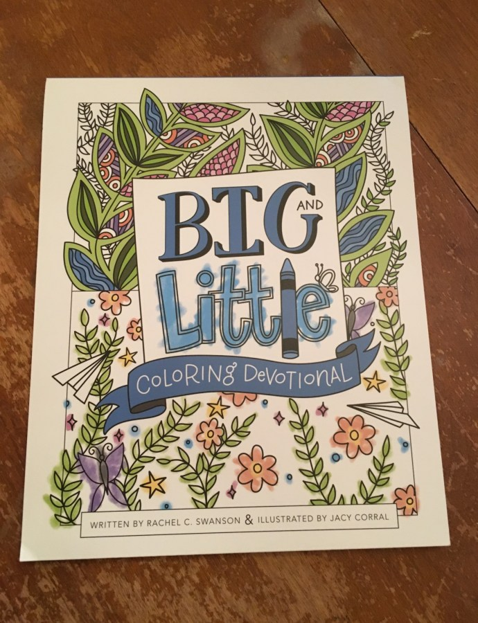 Coloring time with Big and Little Coloring Devotional