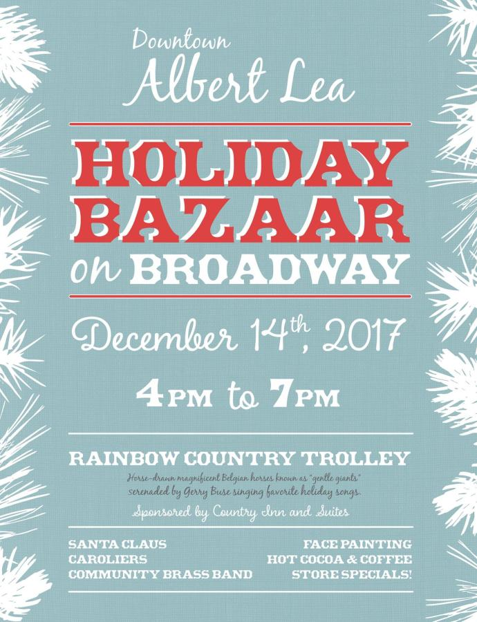 Downtown Holiday Bazaar in Albert Lea, MN