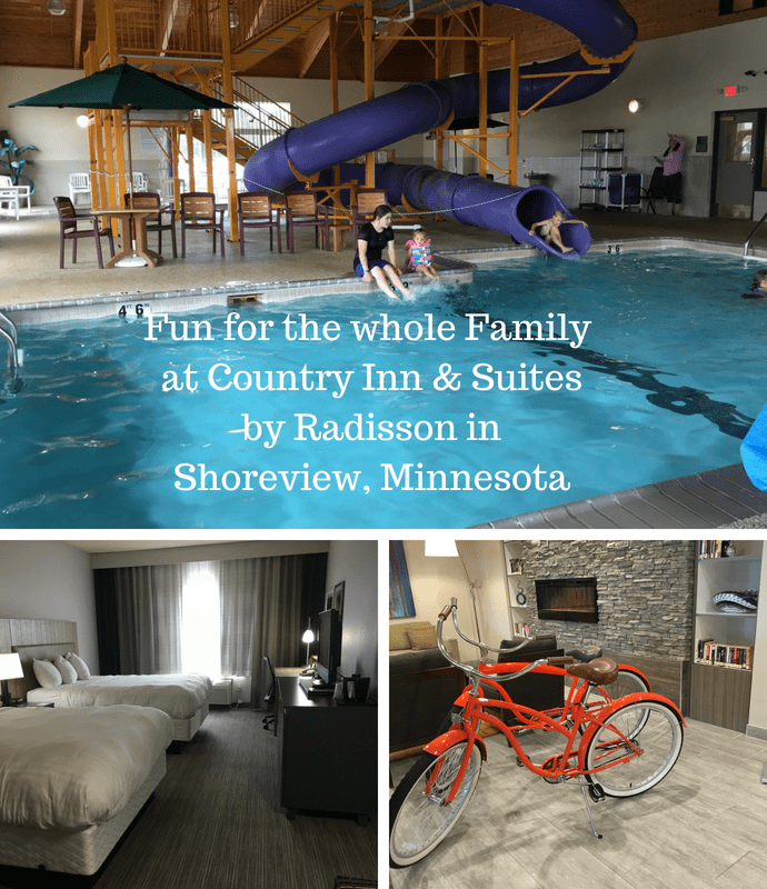 Waterslide fun at the Country Inn & Suites by Radisson in Shoreview, MN.