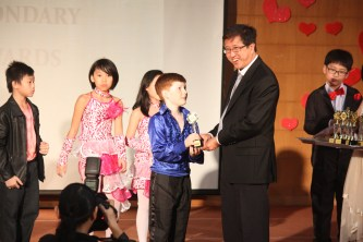 Toby receiving the Year 4 Character Award