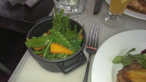 Veggie side dishes at Kettners