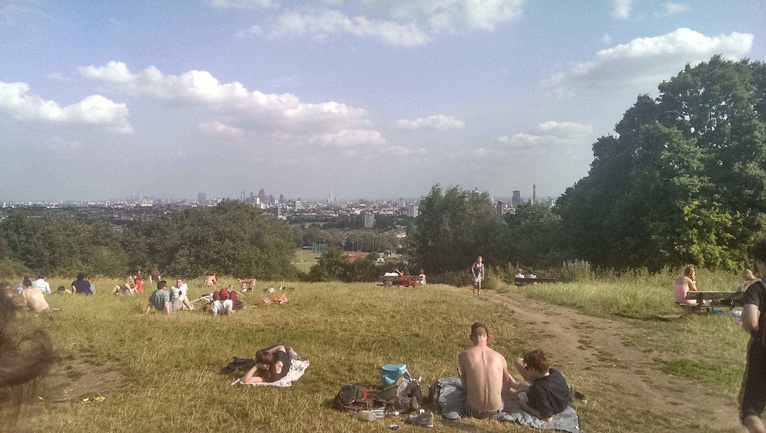 Summer in London views from Hampstead Heath and Ealing