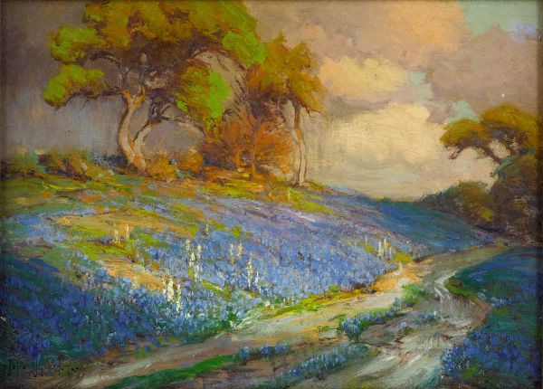 Texas Bluebonnet Landscape Paintings
