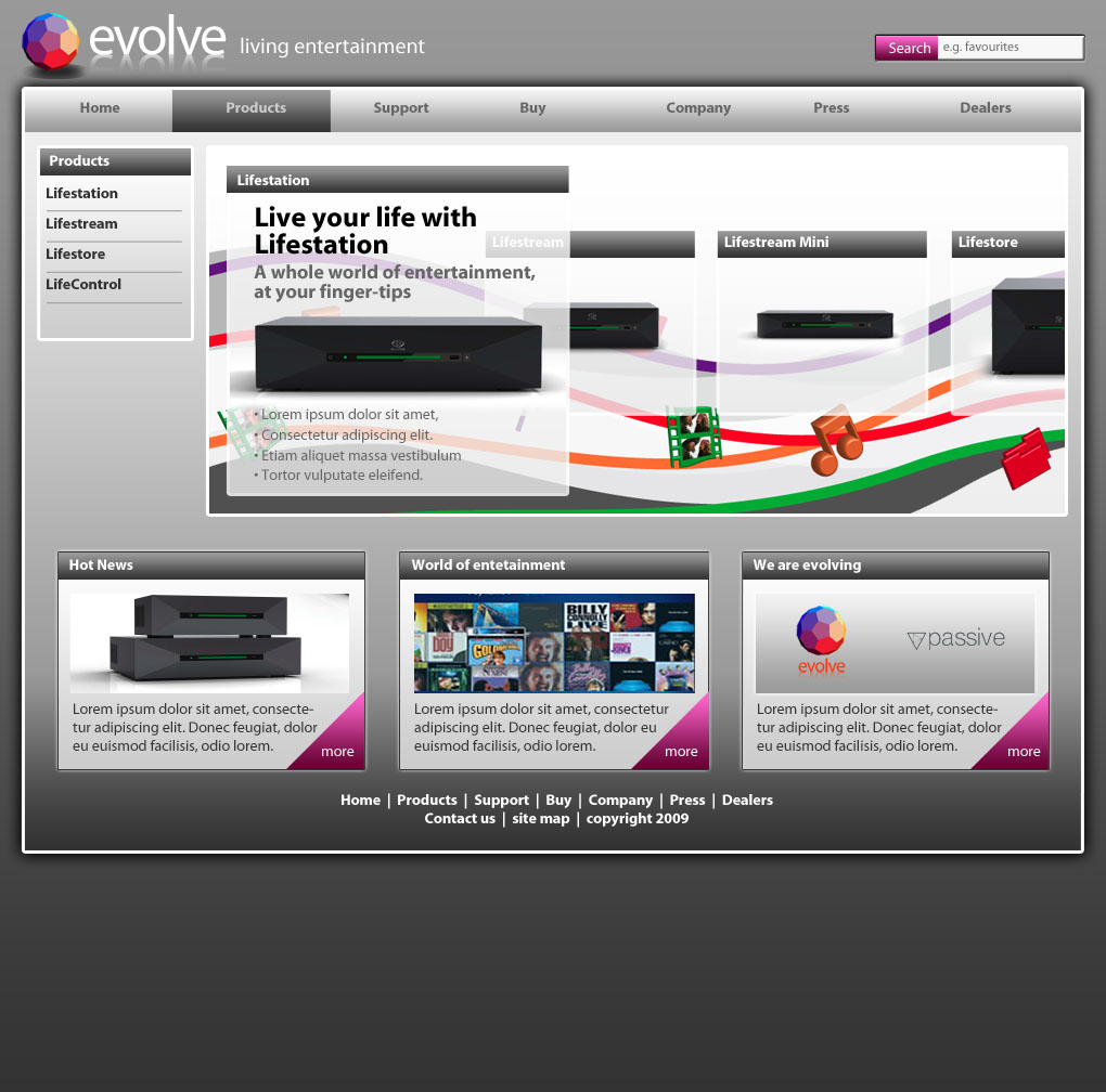 Evolvemedia – Product Page