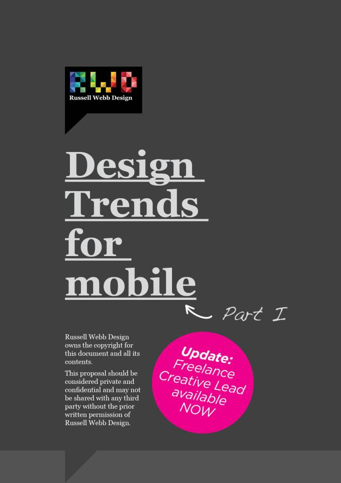 Design Trends for mobile