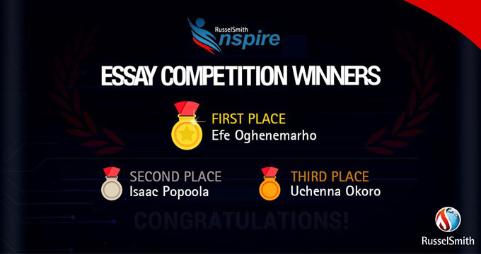 RusselSmith Inspire Essay Contest Winners