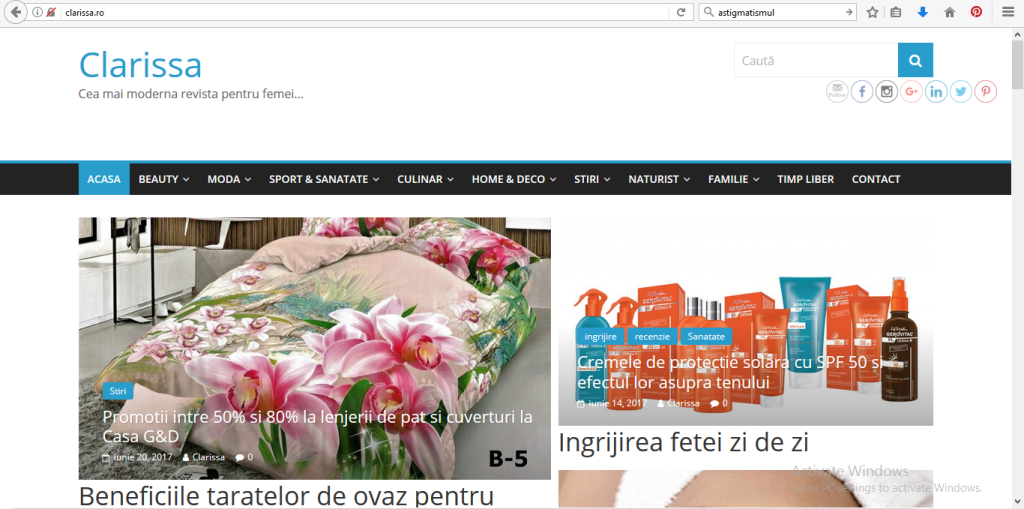 site revista Clarissa