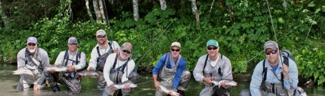 seven salmon biologists