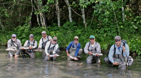 seven salmon biologists