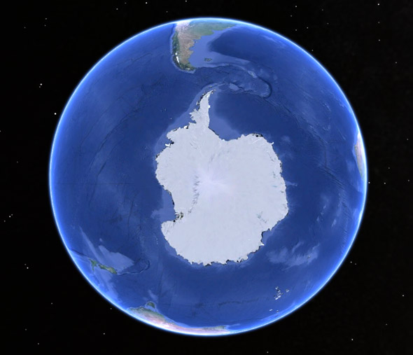 southpole from space