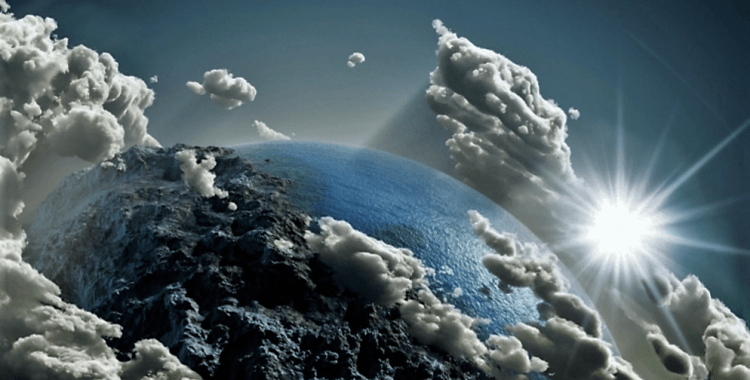 clouds earth from space