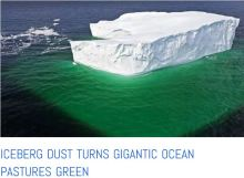 iceberg mineral dust turns the ocean green