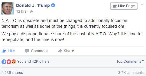 Резултат слика за Trump nato