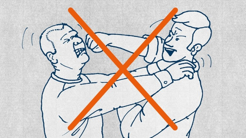 Нет насилия! В Германии конфликты не должны решаться с применением насилия.