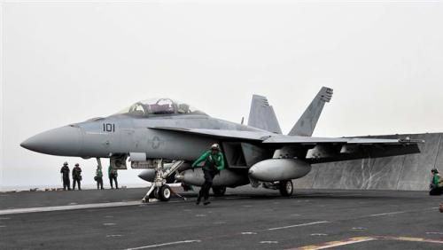 A US Navy F/A-18 Super Hornet