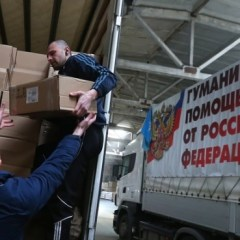 Russia delivers humanitarian aid to eastern Ukraine