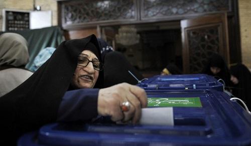 Iranian woman vote