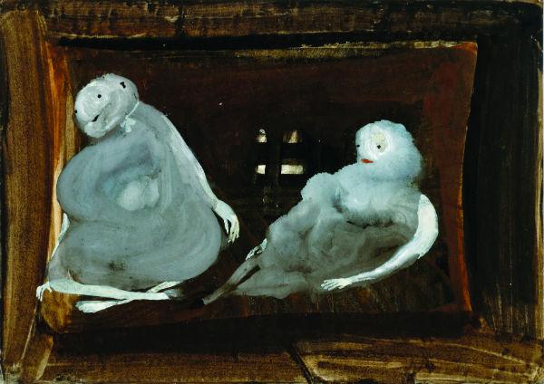 Eugen Gabritschevsky, Untitled, 1949, gouache on paper, 21 x 295 cm.