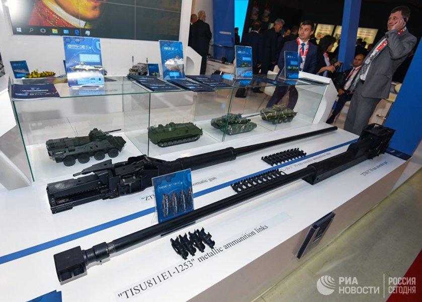 """Стенд Укроборонпрома, башенные пулеметы для БТР """"ZTM-1"""" и """"ZTM-2""""."""