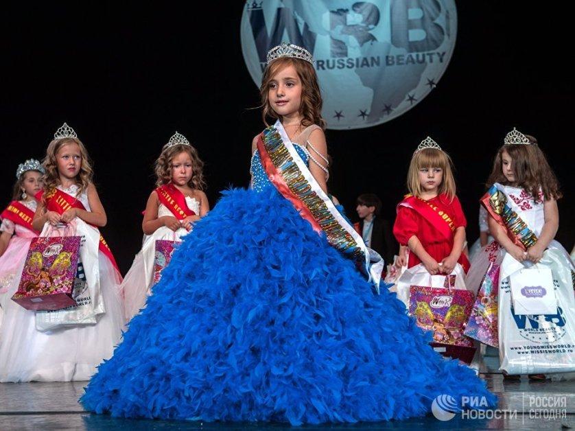 В конкурсе красоты Miss World Russian Beauty среди детей победила Доминика Козьмова.
