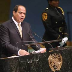 Egypt's Sisi urges Israel to make history with peace