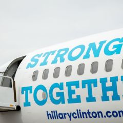 Here's what Hillary Clinton told the traveling press corps aboard her campaign plane