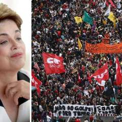 Thousands protest in Brazil to support sacked president Dilma Rousseff