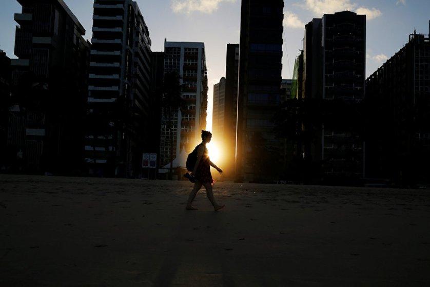 Закат в бразильском Ресифи.