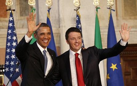 Барак Обама и Маттео Ренци.
