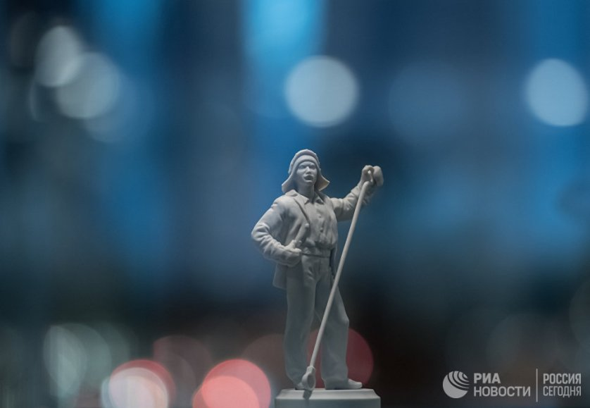 Экспонаты музея Императорского Фарфорового завода в Санкт-Петербурге.