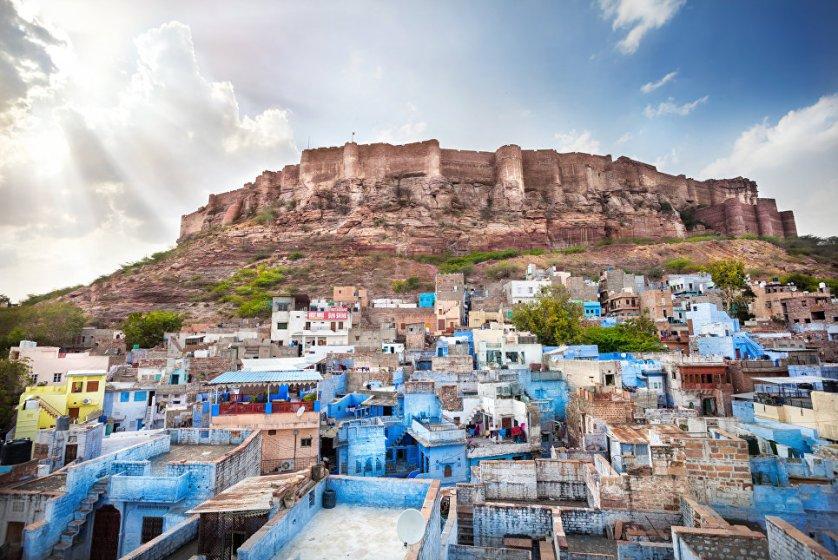 Город Джодхпур в Индии.