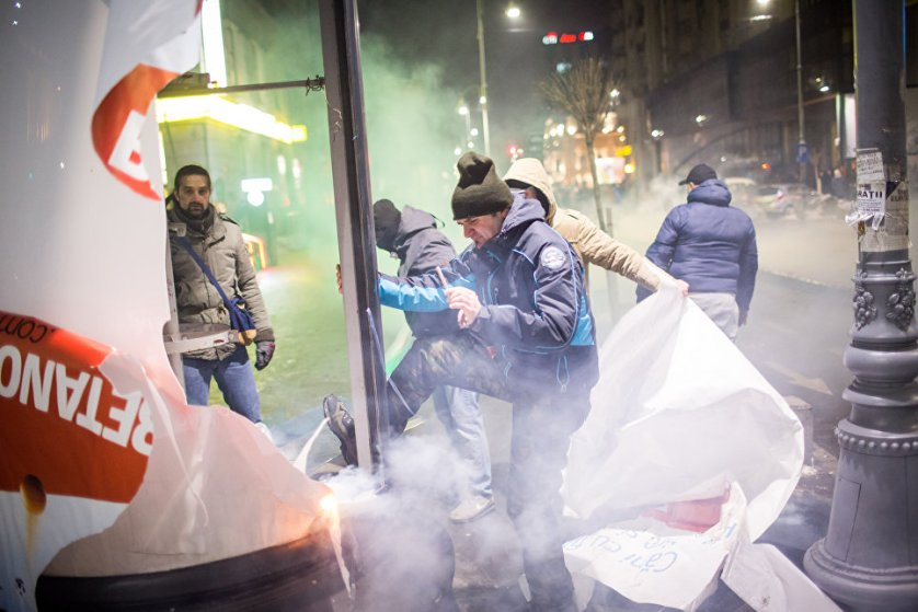 31 января на улицы румынской столицы вышло около 12 тысяч человек.