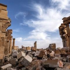Археологи установили под Петербургом копию пальмирской колонны Зенобии