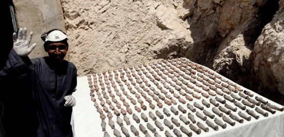 More than 1,000 ancient Egyptian artifacts and coffins found in tomb near Luxor