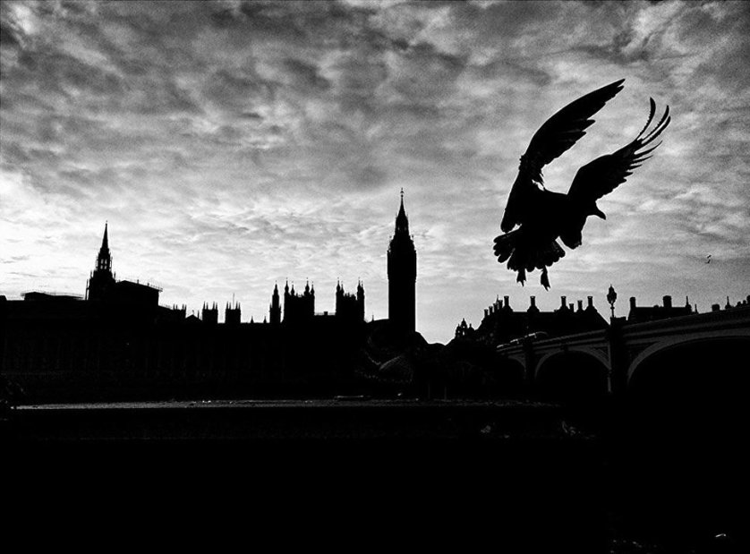 """Победитель в номинации """"Темнота"""" Мишель Жувэ, снимок """"Лондон после Brexit""""."""