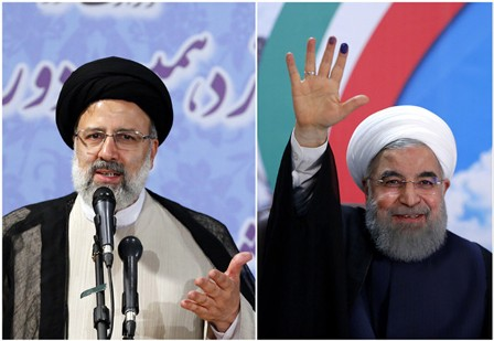 Эбрахим Раиси и Хасан Роухани (справа).