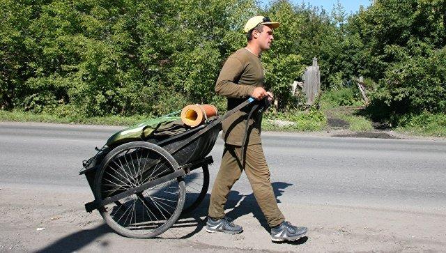 Путешественник за два года прошел пешком из Выборга до Приамурья