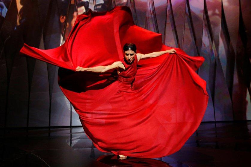Испанская танцовщица Бланка Ли на церемонии открытия 70-го Каннского международного кинофестиваля.