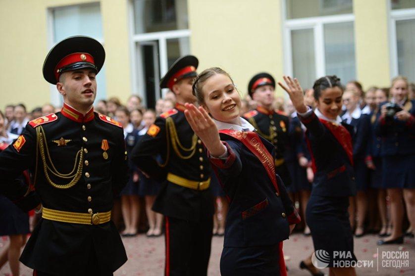 Последний звонок в пансионе воспитанниц Минобороны РФ.