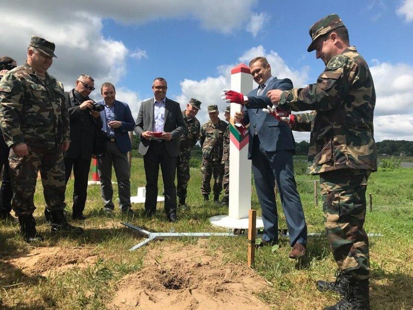 Строительство защитного забора на границе России и Литвы