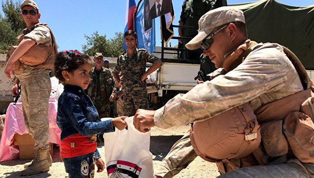 Россия за сутки передала сирийским жителям 2,8 тонны гуманитарной помощи