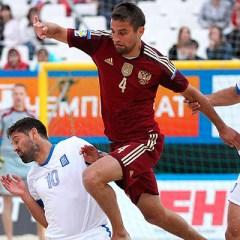 Сборная России разгромила команду Греции в матче этапа Евролиги по пляжному футболу
