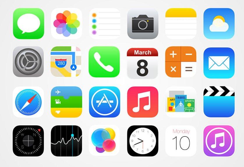 Набор иконок, аналогичный использованным в iOS