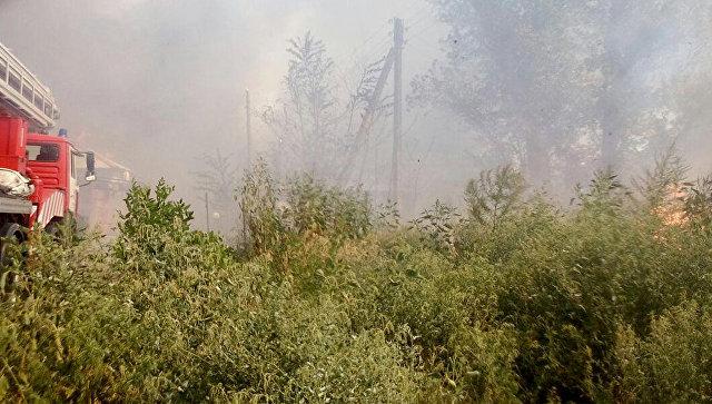 Площадь пожара в Ростове-на-Дону достигла пяти тысяч квадратных метров