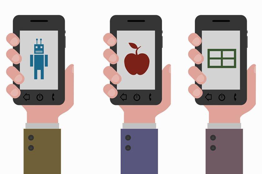 Три операционные системы на смартфонах