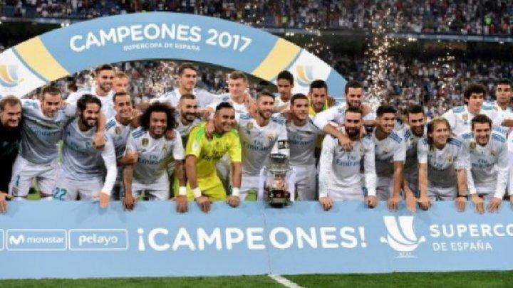 ريال مدريد من دون نجميه رونالدو وبايل يتوج بكأس السوبر الإسبانية على حساب برشلونة